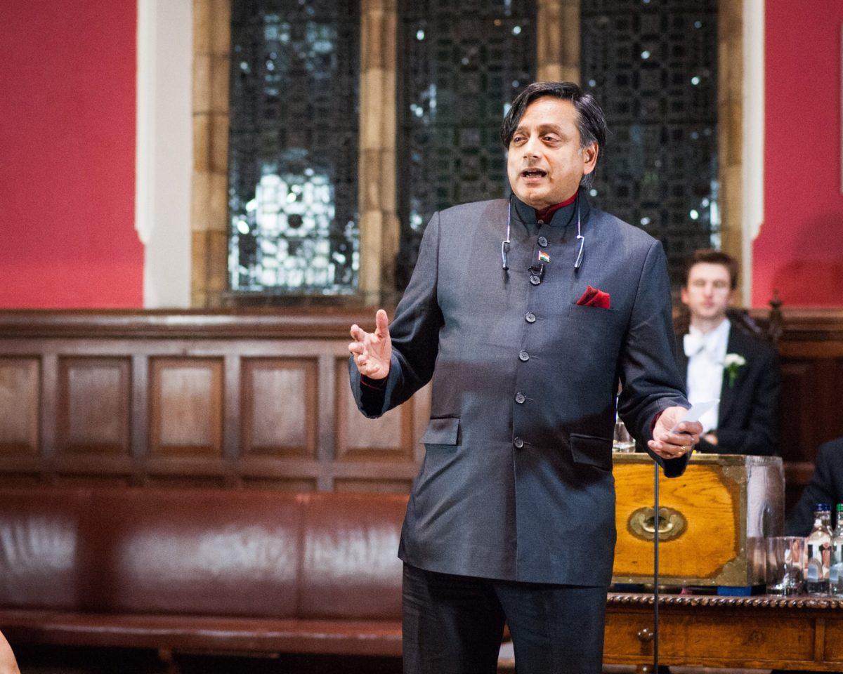 Shashi Tharoor at Oxford